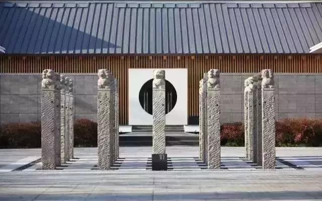 民间石刻艺术品   新中式设计热门元素拴马桩石雕